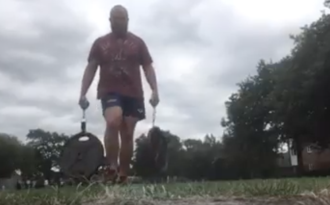 1RM- Farmers walk workout with a twist